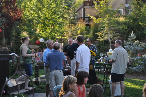 Mosquito control during an outdoor party