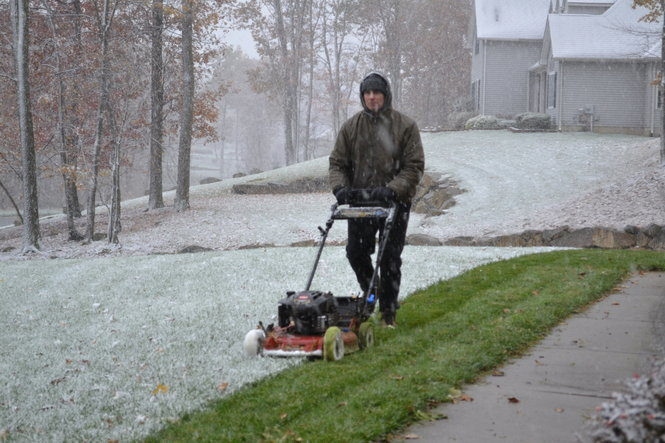 Mowing during the winter