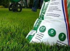 A bag of fertilizer with no phosphorus