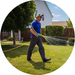 TurfGator Technician treating a lawn